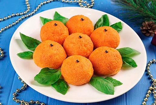 Закуска Мандарин к новогоднему столу