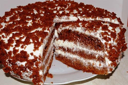 Черный принц на кефире – пошаговый рецепт вкусного шоколадного торта