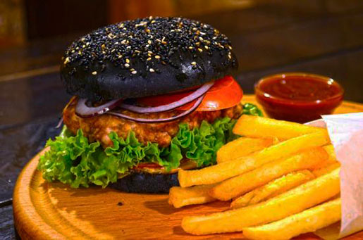 Черный бургер: готовим черные булочки и гамбургер дома