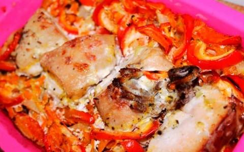 Вкусная гречка с курицей в духовке