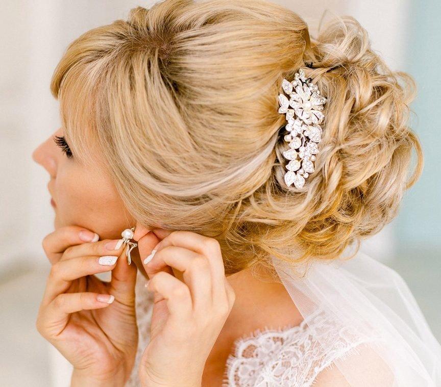 Красивые волосы в день свадьбы
