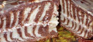 шоколадные пирожные с творожной прослойкой тают во рту