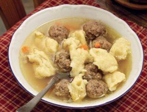 суп с фрикадельками и клецками фото