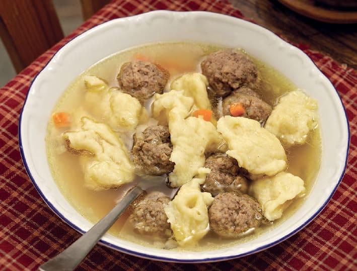 Суп с клецками и фрикадельками рецепт