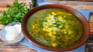 суп со щавелем и яйцом рецепт с фото