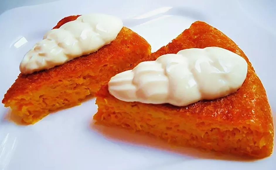 Пудинг для детей из моркови