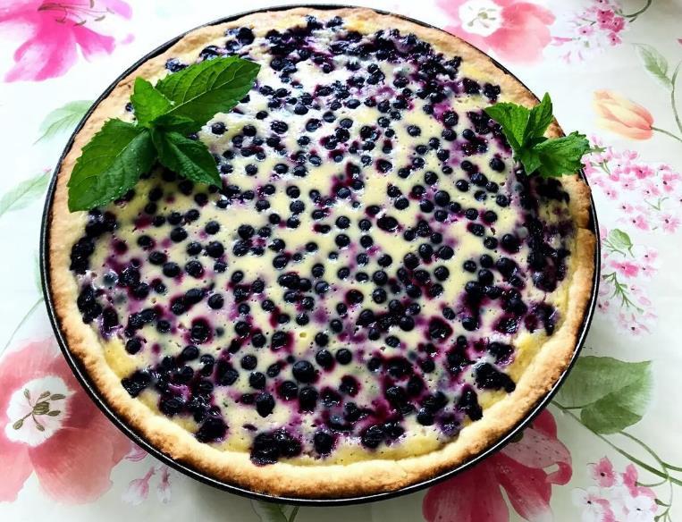 Черничный пирог «Нежный»