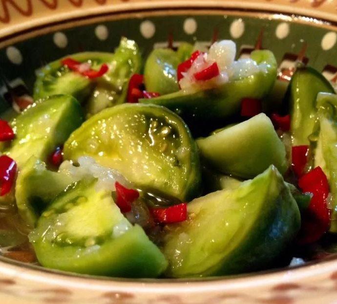 Соленые зеленые помидоры — апамидорцвы