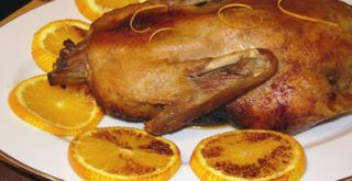 Рождественская утка с апельсинами