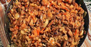 грибная солянка с грибами на сковороде самый вкусный рецепт