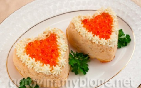 Суфле из семги ко Дню Святого Валентина