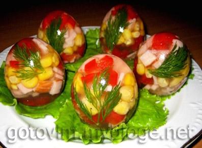 Заливные яйца к Пасхе