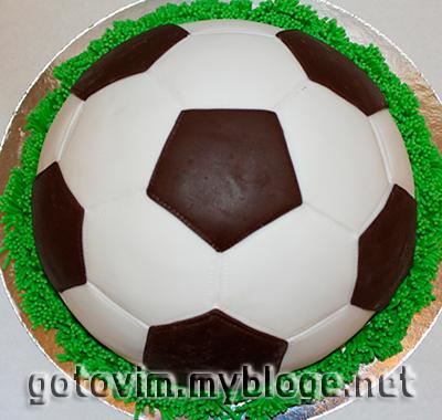 Торт Футбольный мяч Выпечка Готовим с нами 79